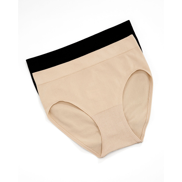 WACOAL B-Smooth Briefs - Choose black or nude. Ribbed waistband. Shallow-cut legs. 5...
