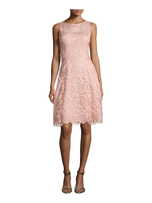 Aidan Mattox Bato Sleeveless Lace Sheath Dress