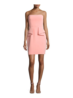 Aidan Mattox Strapless Crepe Peplum Cocktail Dress