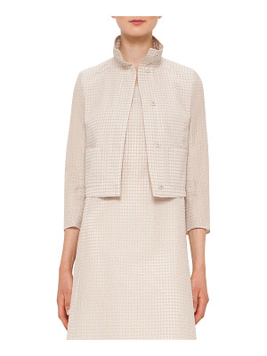 AKRIS Bracelet-Sleeve Short Jacket