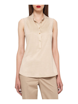 AKRIS Sleeveless Silk Jersey Blouse