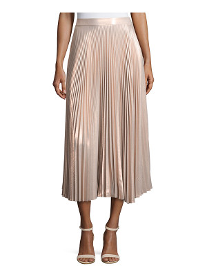 A.L.C. Bobby Metallic Pleated Midi Skirt