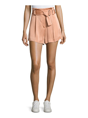 A.L.C. Deliah High-Waist Sateen Shorts