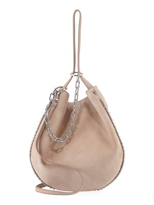 ALEXANDER WANG Roxy Refined Suede Extra Small Hobo Bag