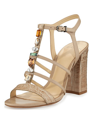 Alexandre Birman Cindy Crocodile 90mm T-Strap Sandal