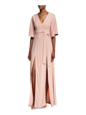 Alexis India V-Neck Slit Front Maxi Dress