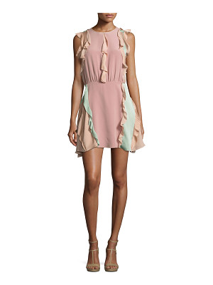 Alexis Keely Colorblock Ruffle Mini Dress