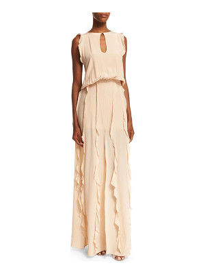 Alexis Sleeveless Frances Ruffle-Trim Dress