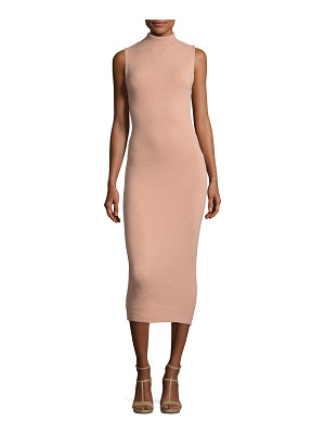 ALICE + OLIVIA Hana Mock-Neck Sleeveless Midi Dress