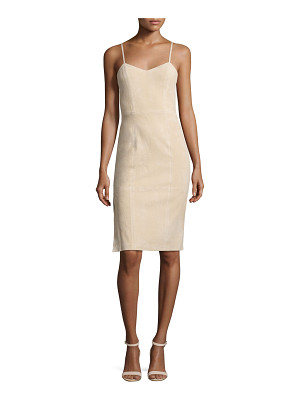 Alice + Olivia Rochelle Suede Fitted Midi Dress