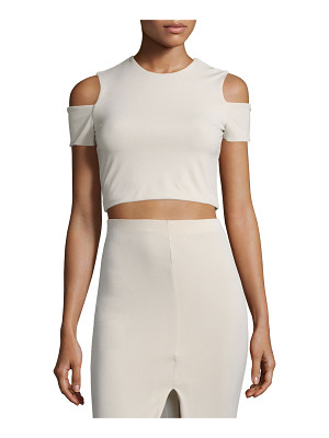 Alice + Olivia Vicki Cold-Shoulder Crop Top