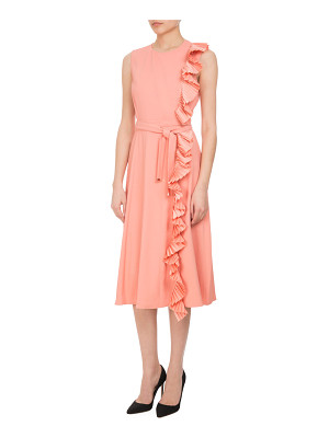 ALTUZARRA Lavinia Pleated-Trim Midi Dress With Belt
