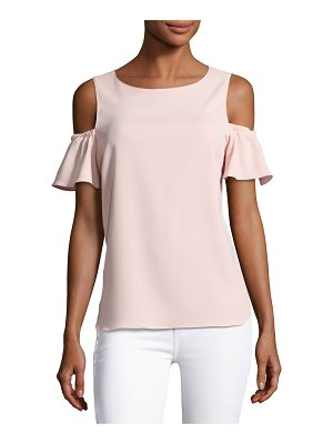 Amanda Uprichard Dryden Cold-Shoulder Capri Top