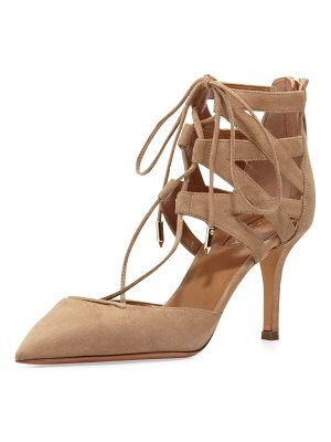 Aquazzura Belgravia Lattice Suede Sandal