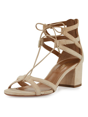 Aquazzura Beverly Hills 50mm Suede Lace-Up Sandal