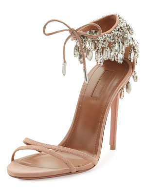 Aquazzura Eden Crystal-Embellished Sandals