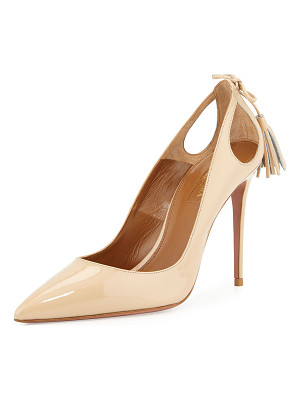 Aquazzura Forever Marilyn Patent Leather Cutout Pump
