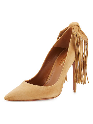 Aquazzura Fringe Tie Suede 105mm Pump
