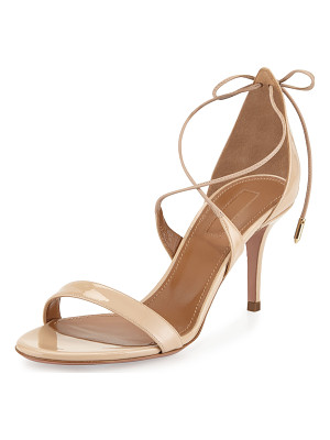 AQUAZZURA Linda Patent Leather 75mm Sandal