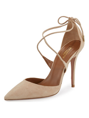 Aquazzura Matilde Crisscross Suede 105mm Pump