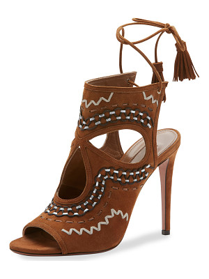 AQUAZZURA Sexy Thing Folk Cutout 105mm Sandal