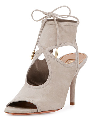 AQUAZZURA Sexy Thing Suede 85mm Sandal