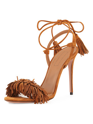 AQUAZZURA Wild Thing Suede 105mm Sandal