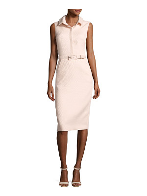BADGLEY MISCHKA Sleeveless Collared Belted Shirtdress