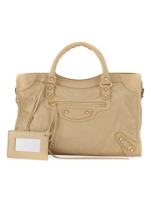 BALENCIAGA Classic City Golden Lambskin Tote Bag