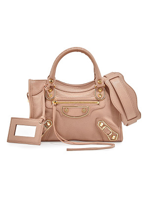 BALENCIAGA Metallic Edge Mini City Aj Satchel Bag