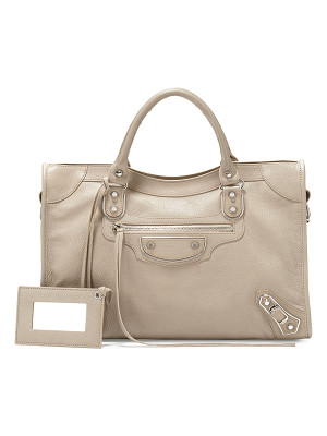 BALENCIAGA Metallic Edge Nickel City Bag
