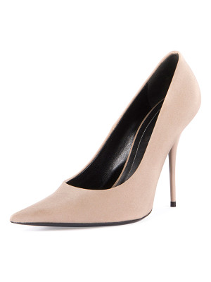 BALENCIAGA Satin Pointed-Toe 110mm Pump