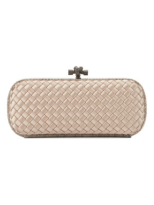 Bottega Veneta Knot Satin Elongated Minaudiere