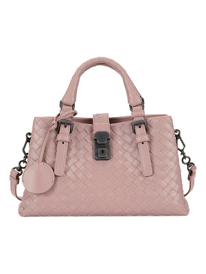 BOTTEGA VENETA Roma Small Woven Leather Satchel Bag