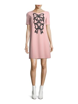 BOUTIQUE MOSCHINO Bow-Print Shift Dress