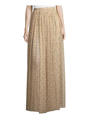 BROCK COLLECTION Sade Floral-Print Semisheer Long Gathered Skirt