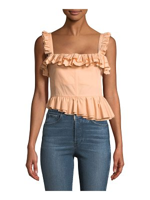BROCK COLLECTION Tegan Ruffled Bustier Tank with Asymmetric Hem