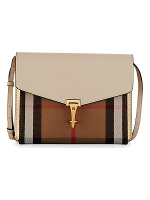 BURBERRY Macken Small Leather & House Check Crossbody Bag