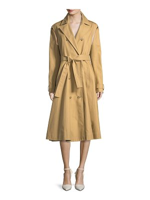CALVIN KLEIN 205W39NYC Double-Breasted Swing Trench Coat With Detachable Sleeves