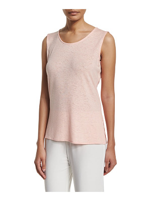 Caroline Rose Sleeveless Gauze Knit Long Tank