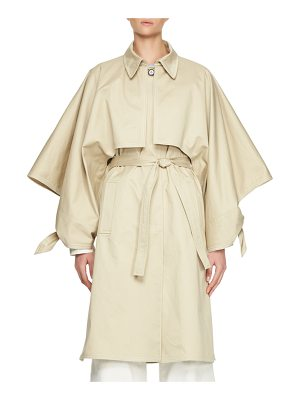 CHLOE Cotton Gabardine Button-Front Trench Coat