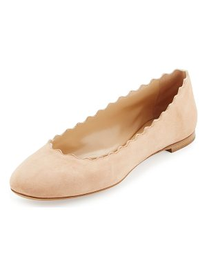 Chloe Lauren Flat Scalloped Ballerina