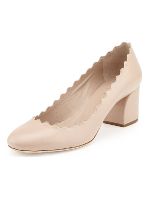 CHLOE Scalloped Leather Pump