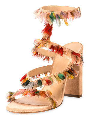 CHLOE Suede Sandal With Colorful Fringe