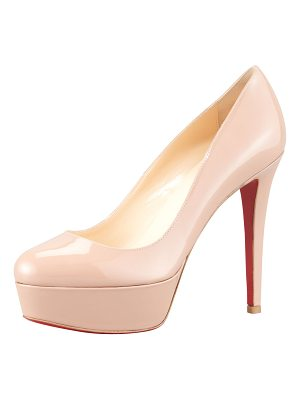 CHRISTIAN LOUBOUTIN Bianca Patent Leather Platform Red Sole Pump