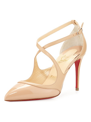 CHRISTIAN LOUBOUTIN Chrissos Crisscross 85mm Red Sole Pump