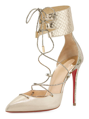 Christian Louboutin Corsankle Lace-Up 100mm Red Sole Pump