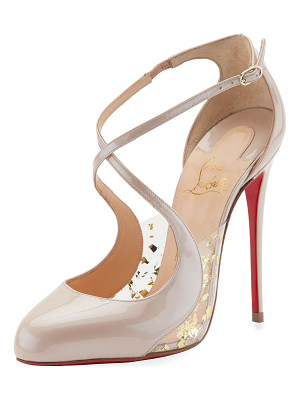 CHRISTIAN LOUBOUTIN Crossettinetta Patent Red Sole Pump