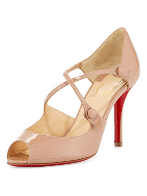 CHRISTIAN LOUBOUTIN Debriditoe Patent 85mm Red Sole Pump