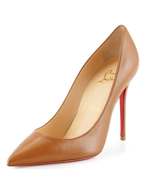 CHRISTIAN LOUBOUTIN Decollette Leather 100mm Red Sole Pump